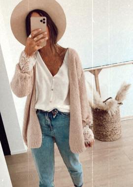 Large Powdery pink cardigan