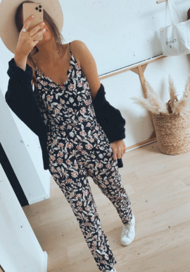 Black Loli jumpsuit with flowers