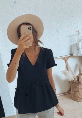 Black Lauriane blouse