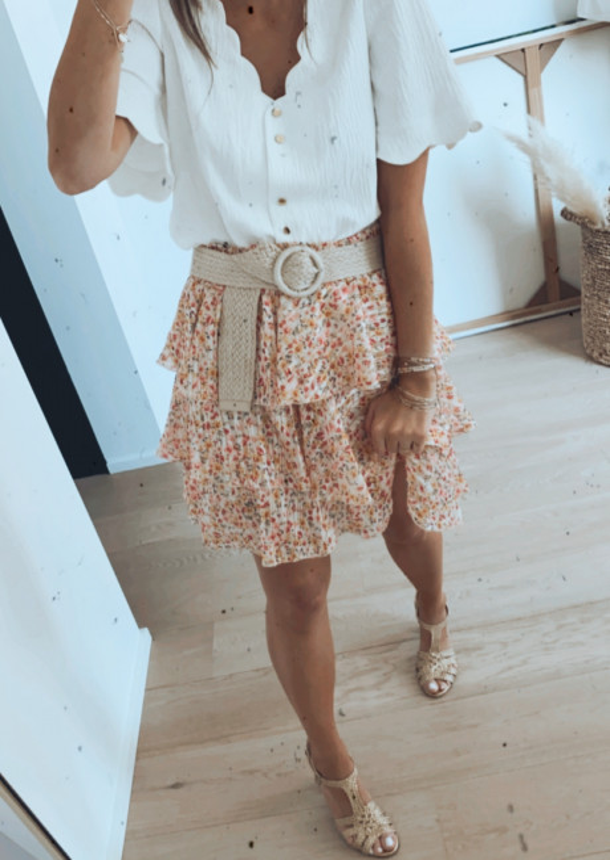 Bekki skirt with flowers