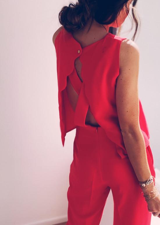 Combinaison Tabata rouge