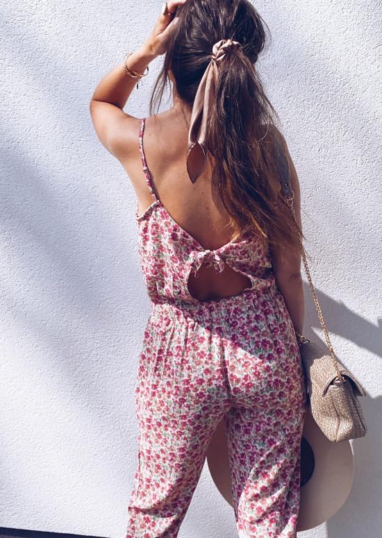 Combinaison Sonia à fleurs rose