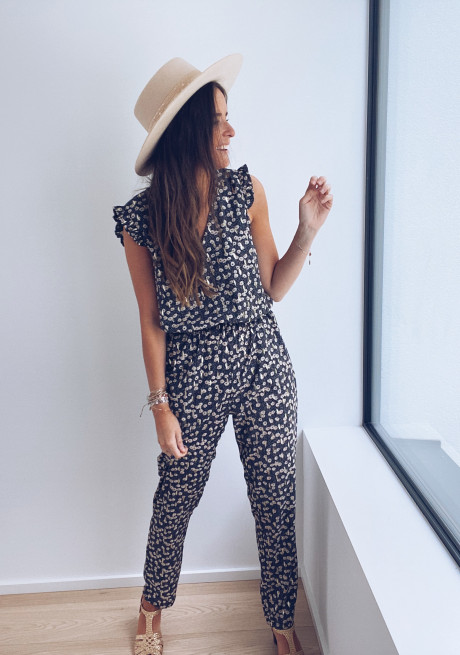 Marcia jumpsuit with flowers