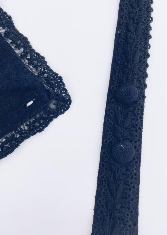 Black Tara short dungarees