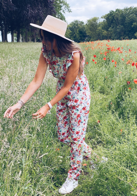 Clary jumpsuit with flowers