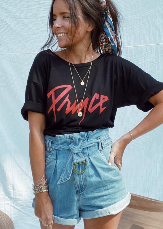 Tee-shirt Prince noir