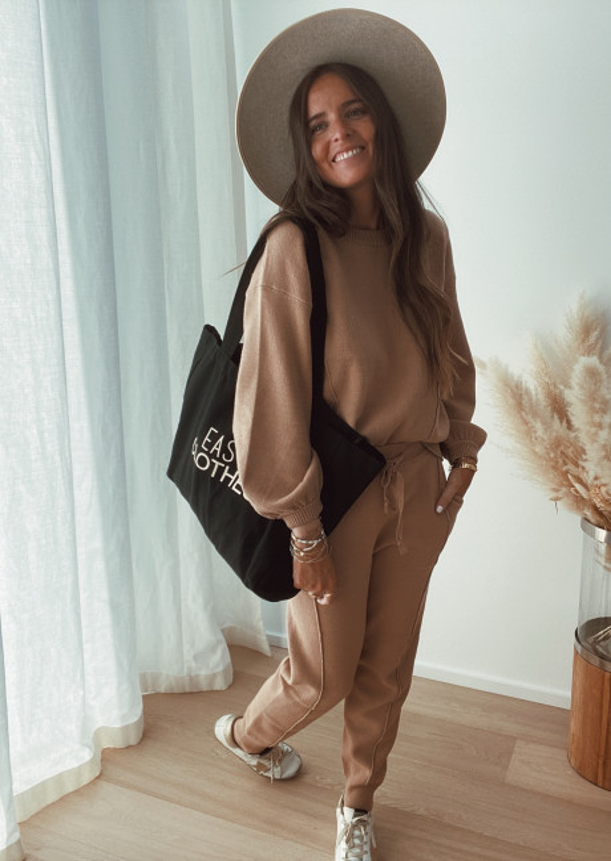 Pantalon Beni camel (Ensemble 1 sur 2)