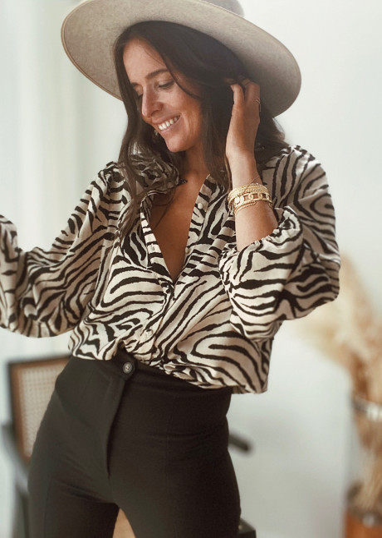 Beige Carmen blouse