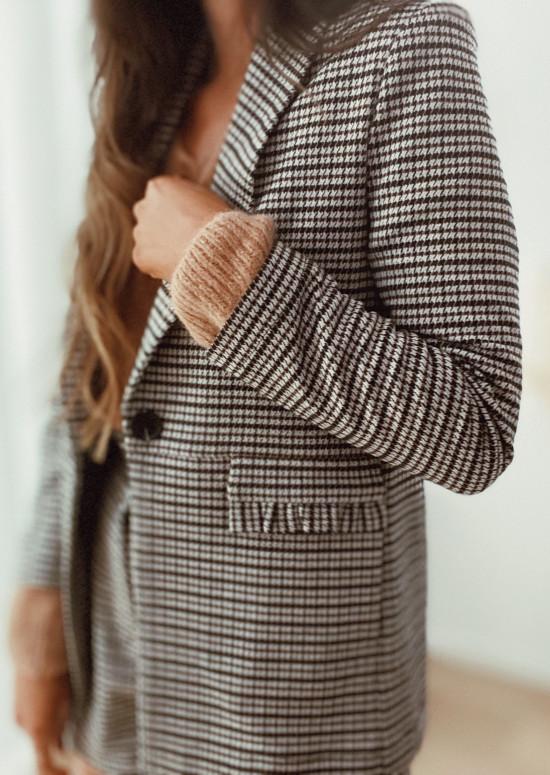 Checkered blazer Fedi