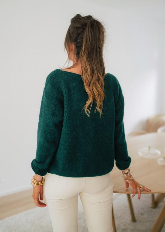 Forest green Cédric cardigan