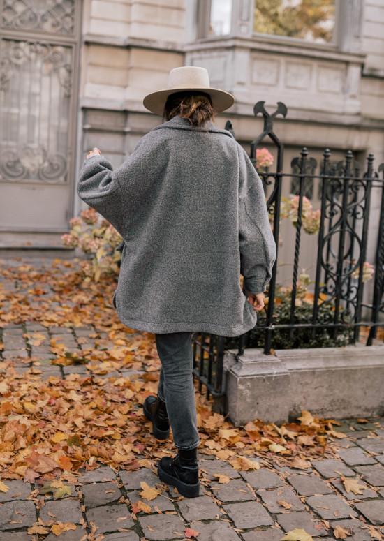 Manteau Blanco gris foncé