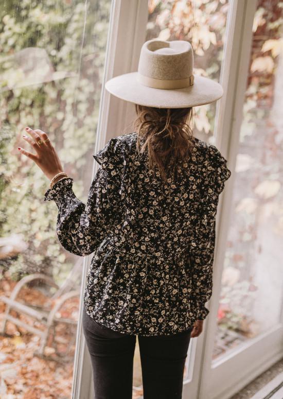Black Jacoba blouse