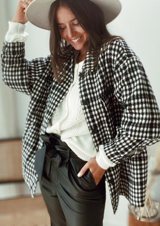 Sarra houndstooth coat