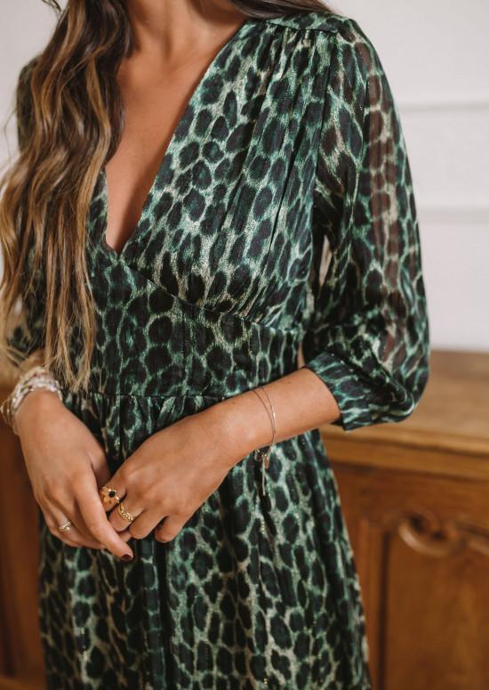 Khaki Solange dress