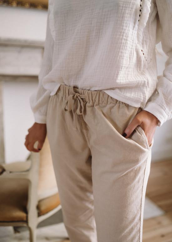 Pantalon Capri beige