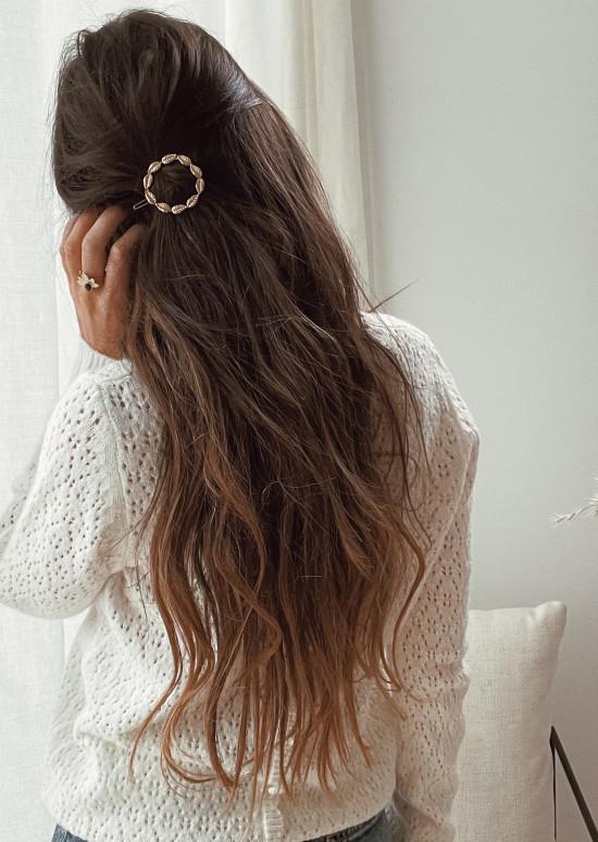 Golden Kenzo hair clip