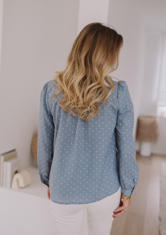 Chemise Cléo bleu à pois