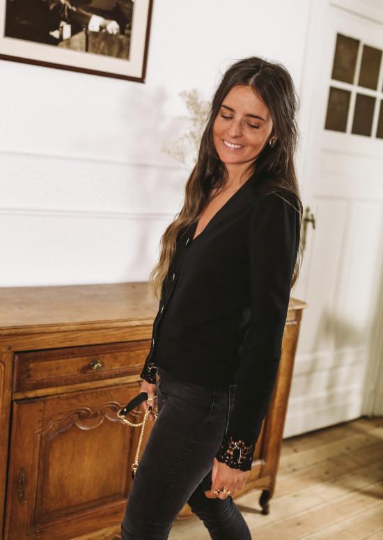 Black Aston cardigan – CREATION