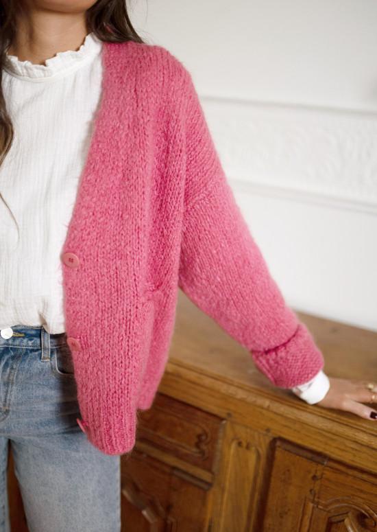 Dark pink Rima cardigan