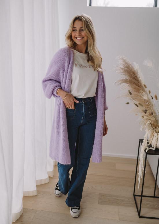 Lavender Regina cardigan