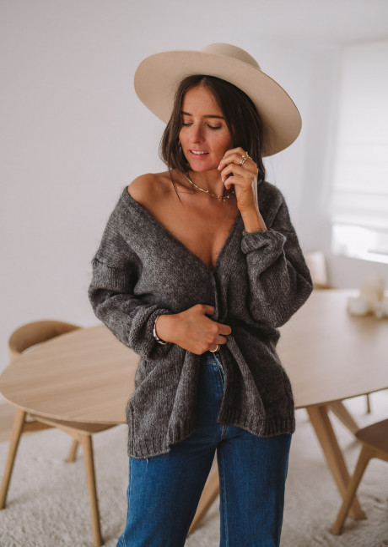 Gilet Easy Clothes Gris foncé