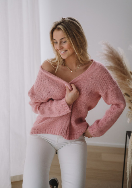 Candy pink Cardigan Easy Clothes