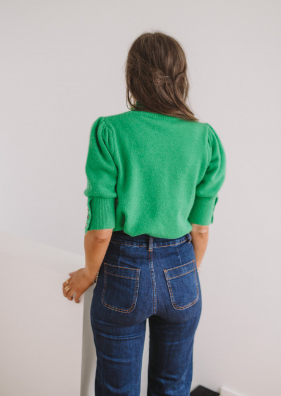 Pull Albane vert