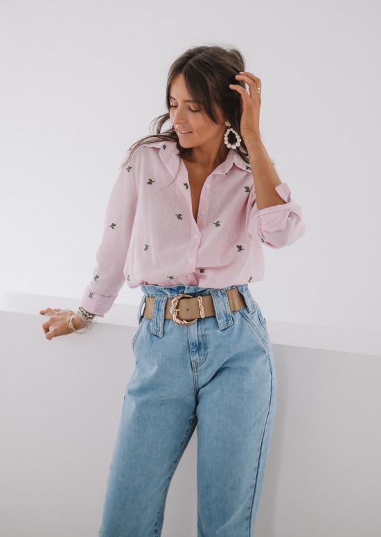 Chemise Julia à motifs rose
