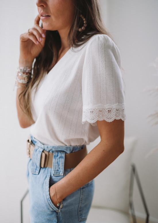 White Henriette Tee-shirt