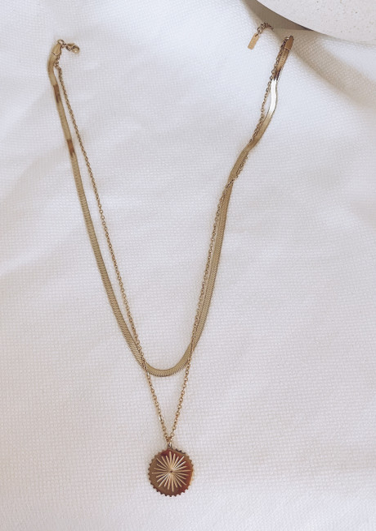 Golden Lizzie necklace