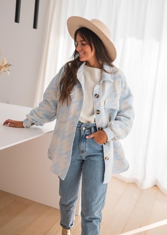 Blue and white Aviva jacket
