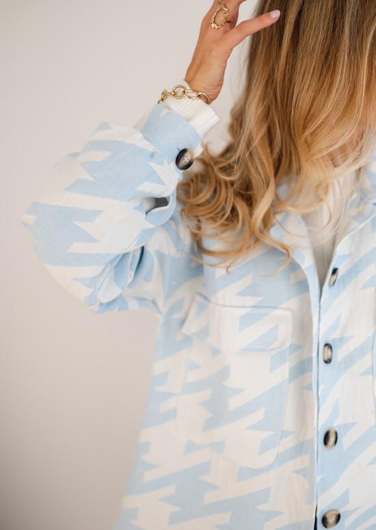Veste Aviva bleue et blanche