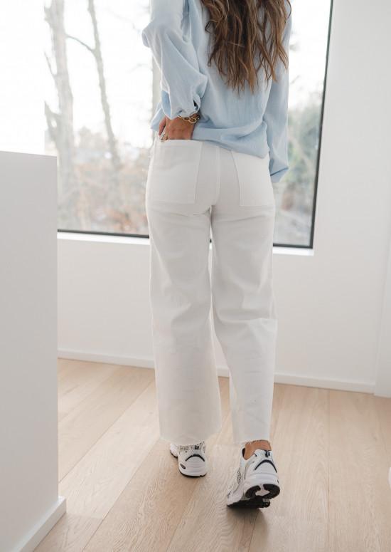 Jeans Bastian blanc