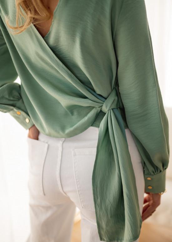 Blouse Tullie vert d'eau - CREATION