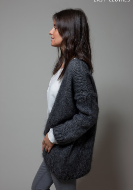 Large dark grey cardigan