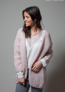 Large Powdery pink cardigan