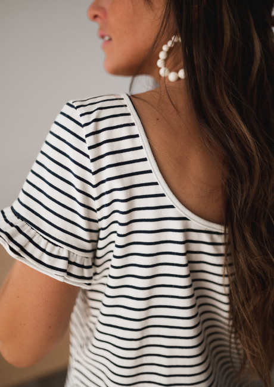T-shirt Alyna à lignes