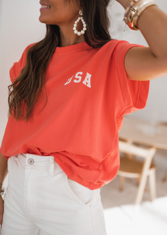 T-shirt USA orange