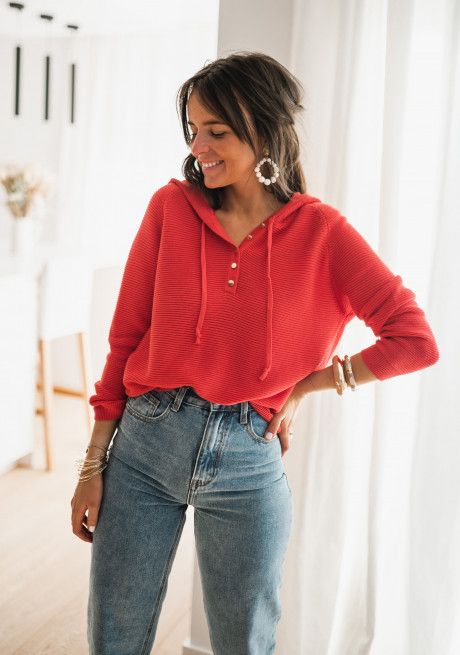 Pull Lydia rouge