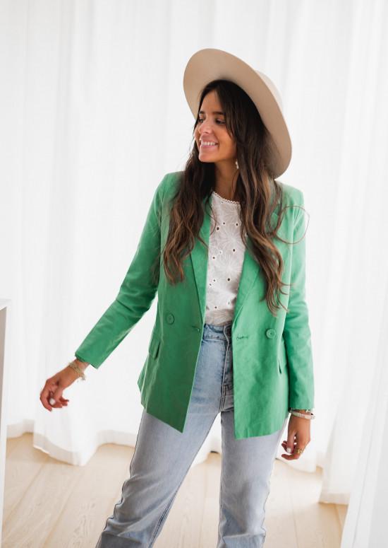 Green Anika blazer