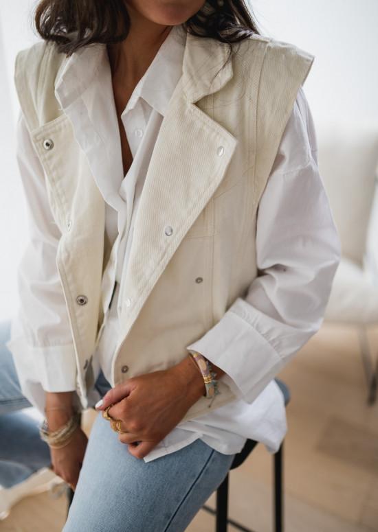 Sleeveless white Memphis jacket