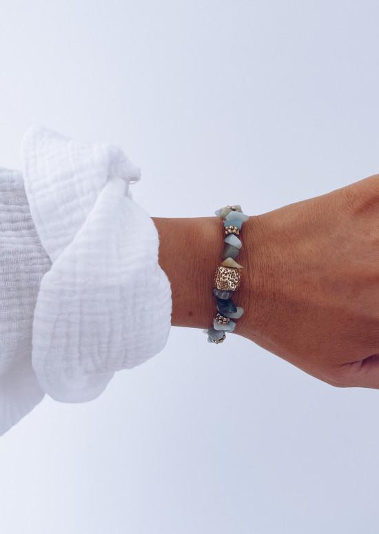 Bracelet Reno à pierres vertes