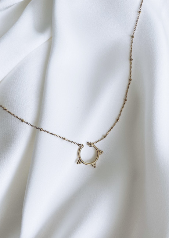Golden Robin necklace