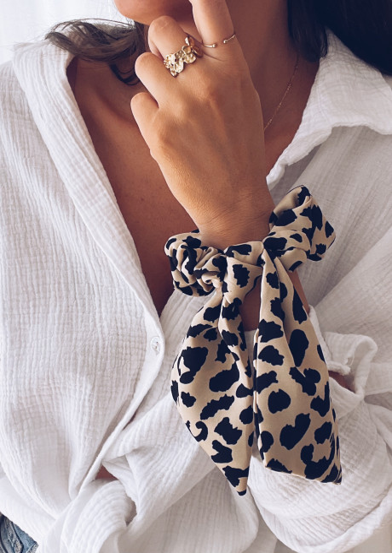 Leopard Kemo scrunchy