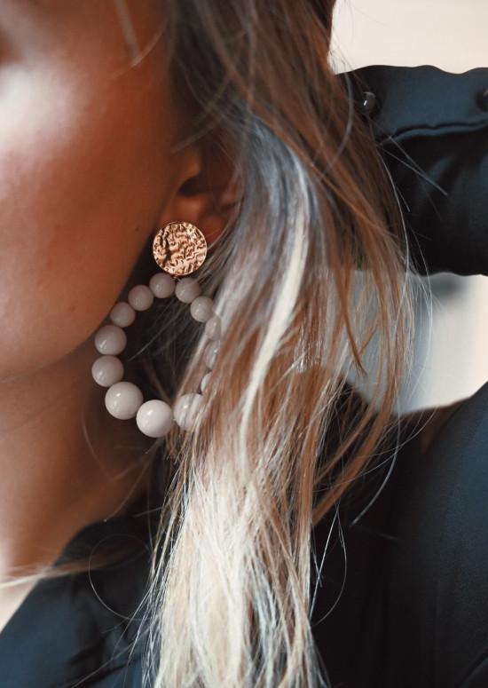 Boucles d'oreilles Simo beige
