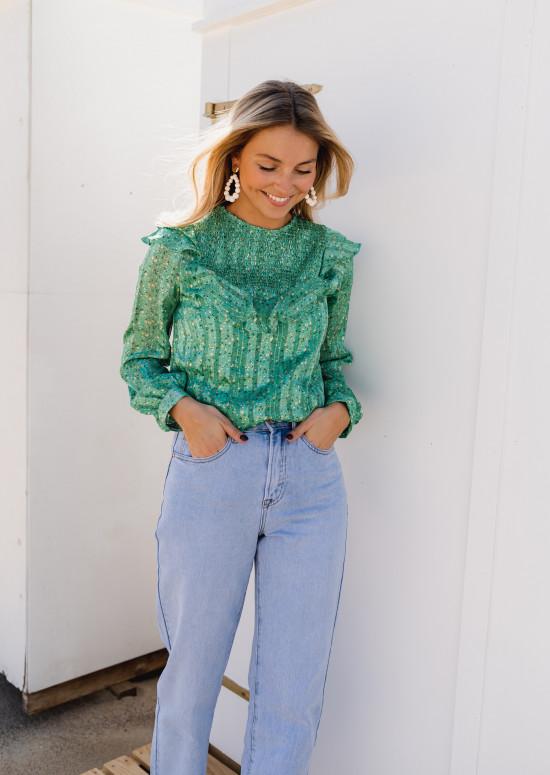 Green Estelle blouse