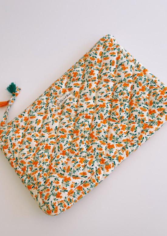 Pochette grand format Aldo à fleurs oranges