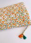 Aldo large size pouch with orange flowers