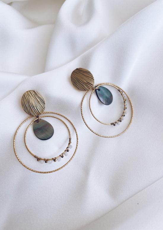 Golden Adée earrings