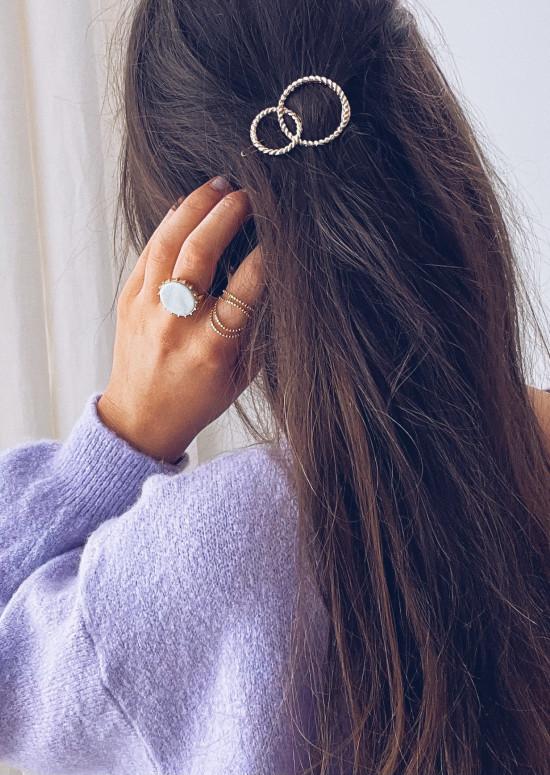 Golden Dali hair clip